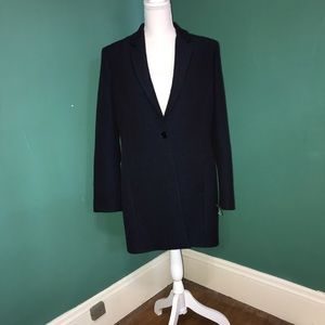 REISS Navara Textured Navy Blue Overcoat Sz. Large